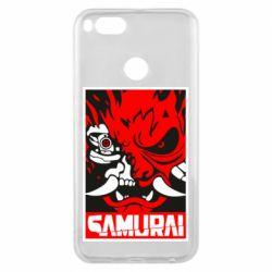 Чехол для Xiaomi Mi A1 Poster samurai Cyberpunk