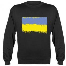 Реглан (свитшот) Потертый флаг Украины - FatLine