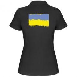 Женская футболка поло Потертый флаг Украины - FatLine