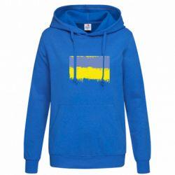 Женская толстовка Потертый флаг Украины - FatLine