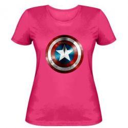 Женская футболка Потертый щит - FatLine