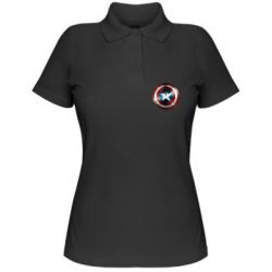 Женская футболка поло Потертый щит - FatLine
