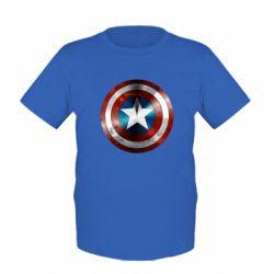Детская футболка Потертый щит - FatLine