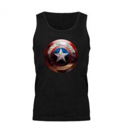 Мужская майка Потрескавшийся щит Капитана Америка - FatLine
