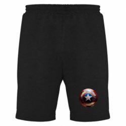 Мужские шорты Потрескавшийся щит Капитана Америка
