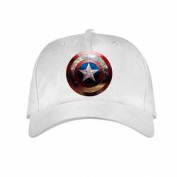 Детская кепка Потрескавшийся щит Капитана Америка - FatLine