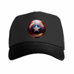 Кепка-тракер Потрескавшийся щит Капитана Америка - FatLine