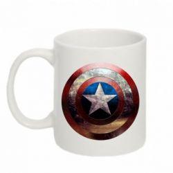Кружка 320ml Потрескавшийся щит Капитана Америка - FatLine