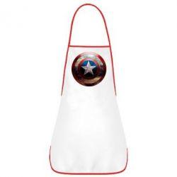 Фартук Потрескавшийся щит Капитана Америка - FatLine