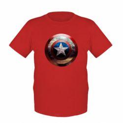 Детская футболка Потрескавшийся щит Капитана Америка - FatLine