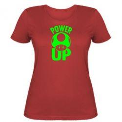 Жіноча футболка Power Up Маріо гриб