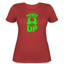 Женская футболка Power Up гриб Марио - FatLine
