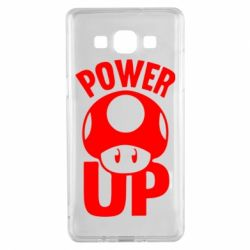 Чехол для Samsung A5 2015 Power Up гриб Марио