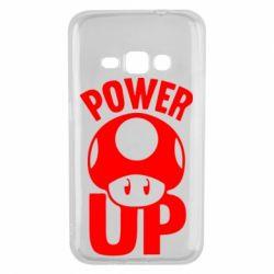 Чехол для Samsung J1 2016 Power Up гриб Марио