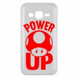 Чехол для Samsung J2 2015 Power Up гриб Марио