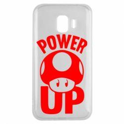 Чехол для Samsung J2 2018 Power Up гриб Марио