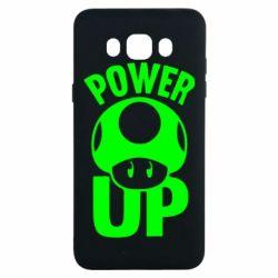 Чехол для Samsung J7 2016 Power Up гриб Марио