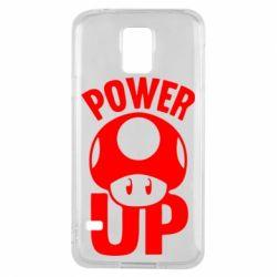 Чехол для Samsung S5 Power Up гриб Марио