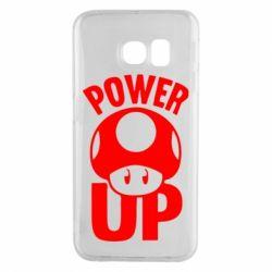 Чехол для Samsung S6 EDGE Power Up гриб Марио