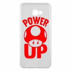 Чехол для Samsung J4 Plus 2018 Power Up гриб Марио