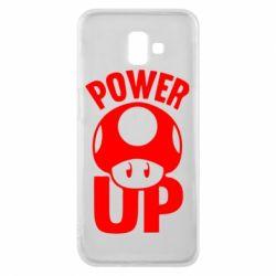 Чехол для Samsung J6 Plus 2018 Power Up гриб Марио