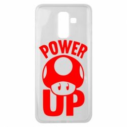 Чехол для Samsung J8 2018 Power Up гриб Марио