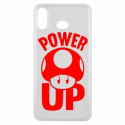 Чехол для Samsung A6s Power Up гриб Марио