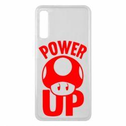 Чехол для Samsung A7 2018 Power Up гриб Марио