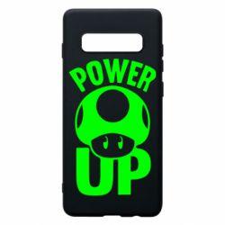 Чехол для Samsung S10+ Power Up гриб Марио