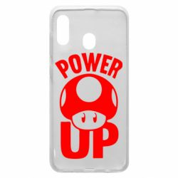 Чехол для Samsung A20 Power Up гриб Марио