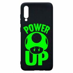 Чехол для Samsung A70 Power Up гриб Марио