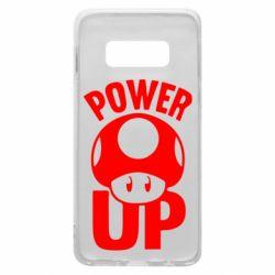 Чехол для Samsung S10e Power Up гриб Марио