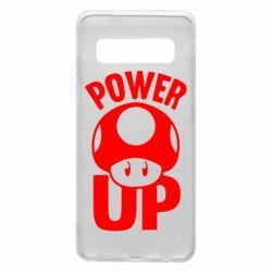 Чехол для Samsung S10 Power Up гриб Марио