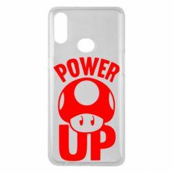 Чехол для Samsung A10s Power Up гриб Марио