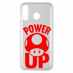 Чехол для Samsung M30 Power Up гриб Марио