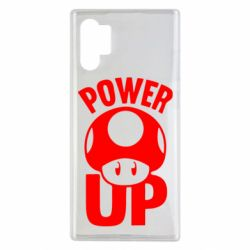 Чехол для Samsung Note 10 Plus Power Up гриб Марио
