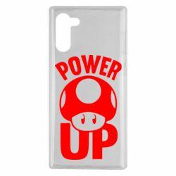 Чехол для Samsung Note 10 Power Up гриб Марио