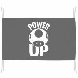 Флаг Power Up гриб Марио