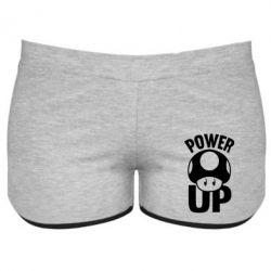 Женские шорты Power Up гриб Марио - FatLine