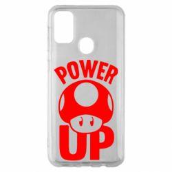 Чехол для Samsung M30s Power Up гриб Марио