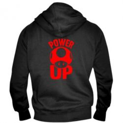 Мужская толстовка на молнии Power Up гриб Марио - FatLine