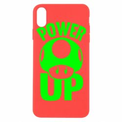 Чехол для iPhone X/Xs Power Up гриб Марио