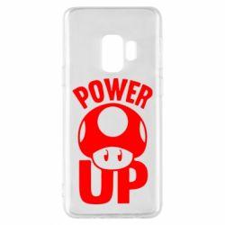 Чехол для Samsung S9 Power Up гриб Марио