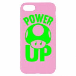 Чехол для iPhone 8 Power Up гриб Марио