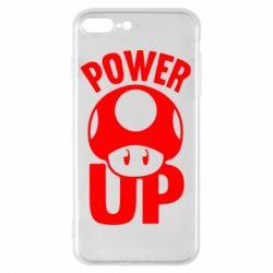 Чехол для iPhone 8 Plus Power Up гриб Марио