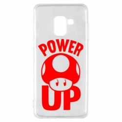 Чехол для Samsung A8 2018 Power Up гриб Марио