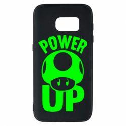 Чехол для Samsung S7 Power Up гриб Марио