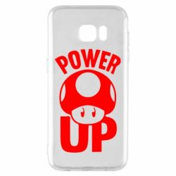 Чехол для Samsung S7 EDGE Power Up гриб Марио