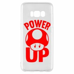 Чехол для Samsung S8 Power Up гриб Марио
