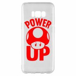 Чехол для Samsung S8+ Power Up гриб Марио